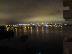 Bayshore Condominium Night View of River