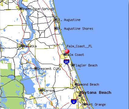 Palm Coast Florida Map