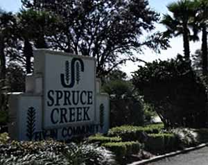 Spruce Creek Fly-In Sign