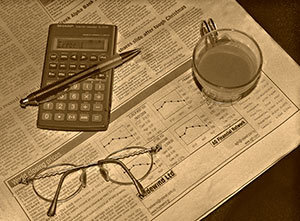 Paper and Glasses Image