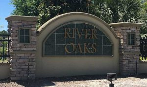 River Oaks Home Community Sign